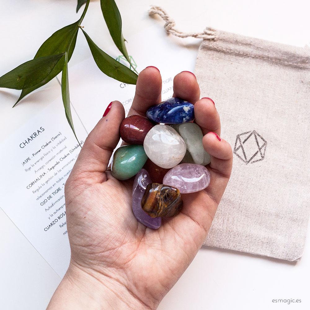 Piedras chakras, kit chakras, meditacion chakras