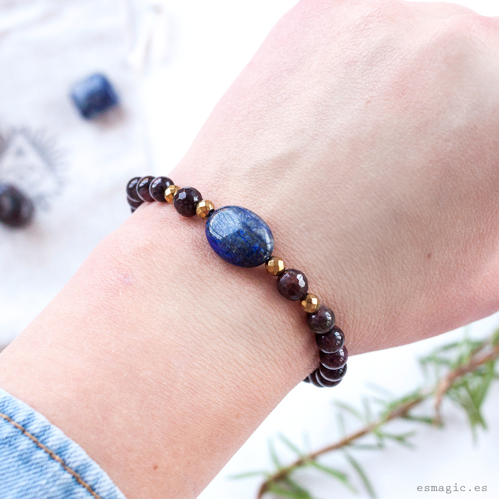 Pulsera Granate Lapislazuli Esmagic Crystal Shop